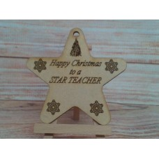 Laser cut Star  Teacher 100mm